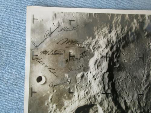 NASA Ranger 9 Moon photo w signatures – Stamped numbered Atlas LV-3 Agena B