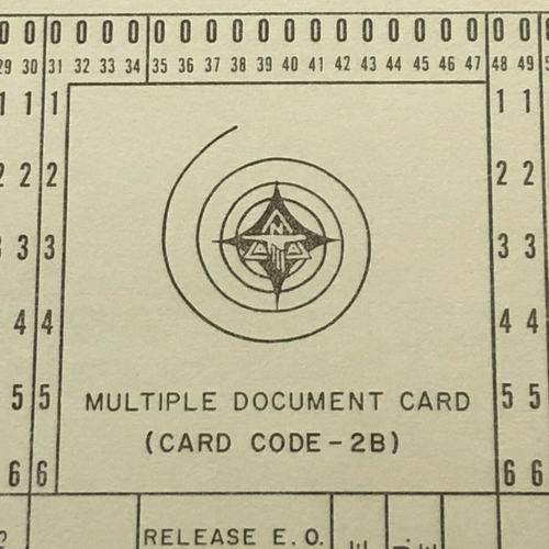 Original Apollo Program Master Negative IBM Document Card NA Rockwell / NASA 20