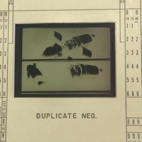 Original Apollo Program Master Negative IBM Document Card NA Rockwell / NASA 17