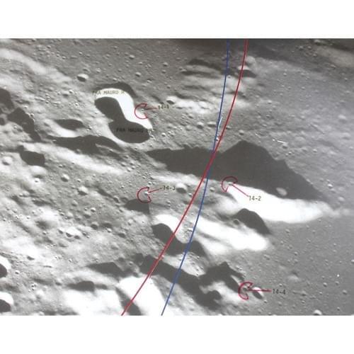 Apollo 14 Lunar Landing Training Map