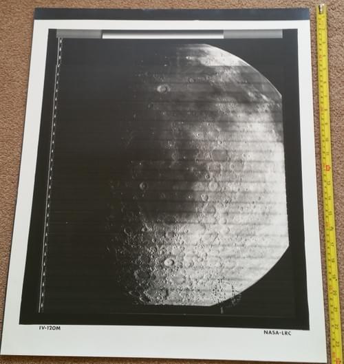 Lunar Orbiter large photos of the moon