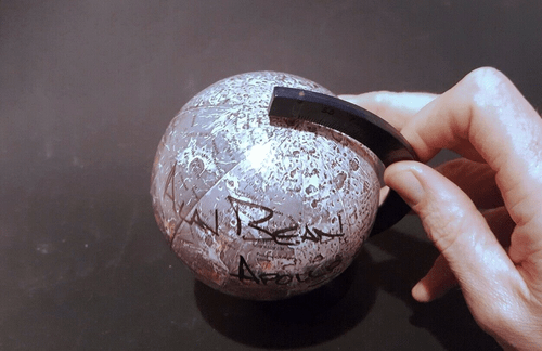 Apolllo 12 Alan Bean astronaut moonwalker hand signed moon globe Autograph