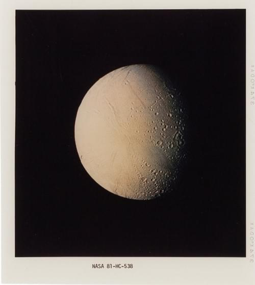 NASA Original Voyager 2 Color Transparencies of the Saturnian System, 1981