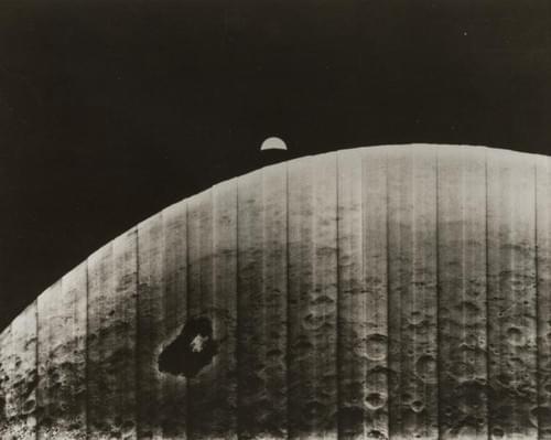 First Earth Moon photo  Lunar Orbiter 1