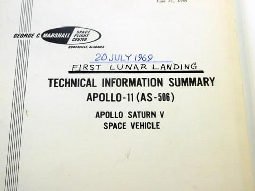 Apollo 11 : First Lunar Landing Technical Information Summary Report