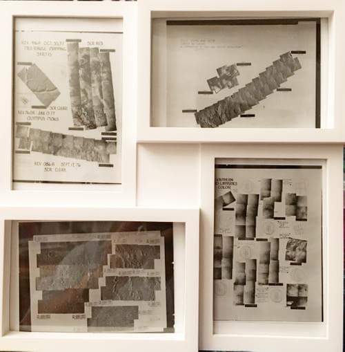 Set of 4 Original Viking photo mosaics from Mars - 1977