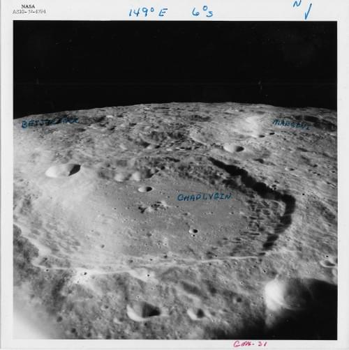 Apollo 10 photo used by Apollo 14 as General Lunar Surface Work photo