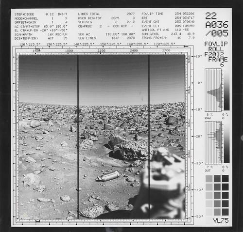 Viking Mars lander first generation original photos