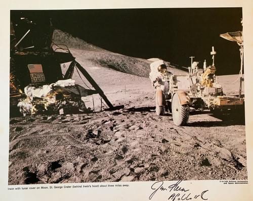 Apollo 15 James irwin autographs
