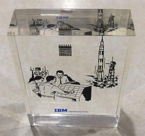 IBM chip desk display used on Apollo program