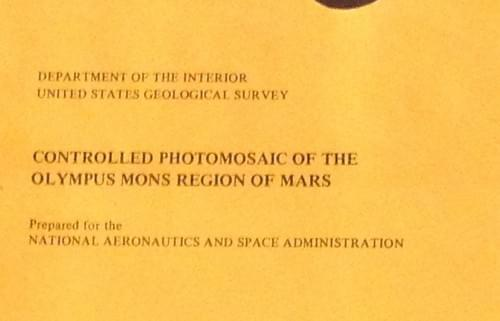 Map of Mars Olympus Mons region