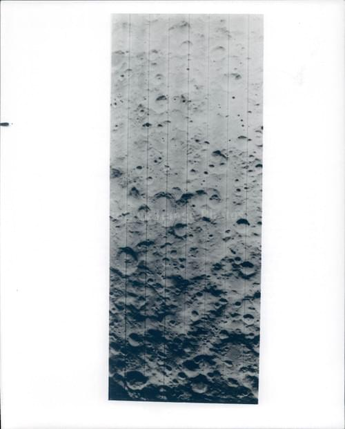 NASA original photo of the farside of the Moon from Lunar Orbiter 1 (1966 )