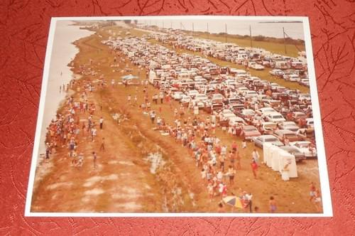 NASA  Photo STS-5 Visitors Parked on Causeway