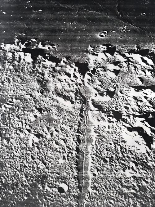 Rare 1967 NASA Moon Photo by Lunar Orbiter Mission 5 Army Map Apollo