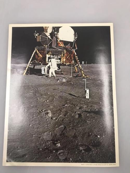 Apollo 11 astronaut Edwin Aldrin with LM