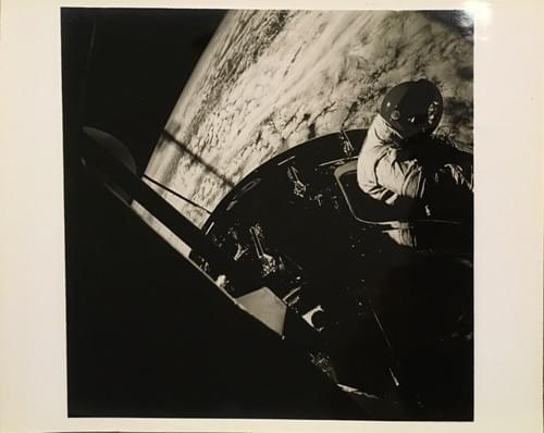 Apollo 9 David Scott standing in open hatch Command Module