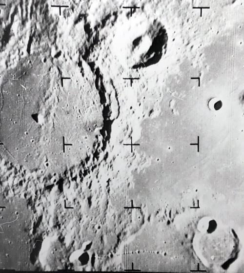 Rare 1967 NASA Moon Photo by Ranger IX Probe Cockpit Shot as Impacting Surface
