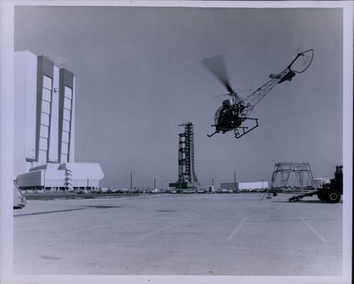 Original Official NASA Photo APOLLO 10 spaceship launch Prep Mobile Launcher