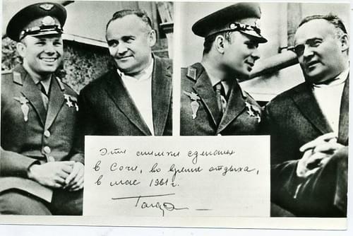 Yuri GAGARIN & Sergei KOROLEV