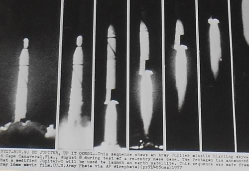 1957 Press Photo Army Jupiter Missile