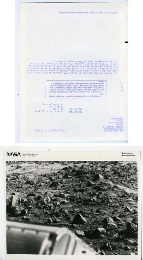 USA Space Exploration Martian Surface Mars Viking 1 Lander Old Photo NASA 1976