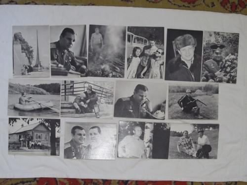 Yuri Gagarin postcards - His work leisure and family