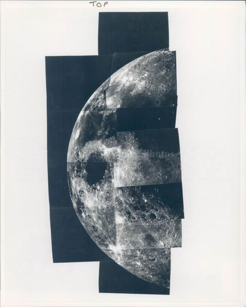 NASA original Mosaic photo of the Moon Mariner 10 (1973 )