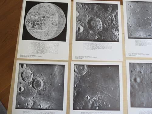 JPL Glossy Prints Ranger Moon Surface Geology Orbit Sea of Tranquility NASA