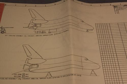 Vintage NASA Space Shuttle Blueprint 1988