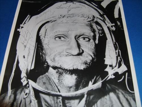 Space cadet early 1960's b&w photo