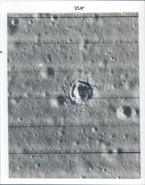 NASA Telephoto of the moons from Lunar Orbiter III (1967)