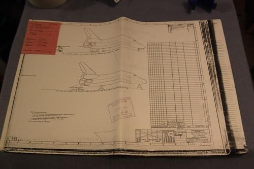 Vintage NASA Space Shuttle Blueprint 1988