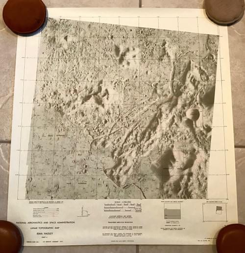 RIMA HADLEY - Lunar Topographic Map - NASA