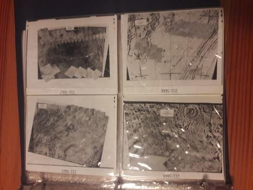 Original Viking photo mosaics from Mars - 1977
