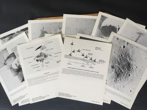 1967 Surveyor III  Moon Surface Photos