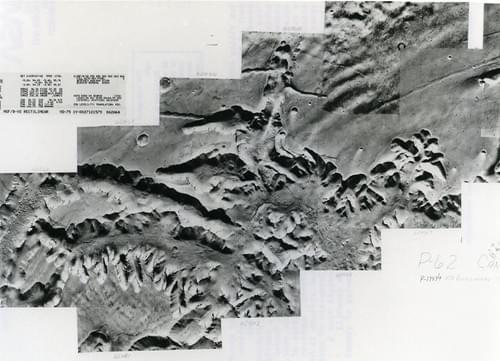 Martian Surface Mars Viking Orbiter 1 1976