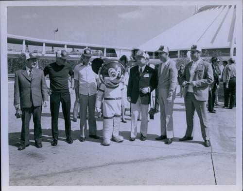 Original Official NASA Photo MICKEY MOUSE Apollo Soyuz Crew Disney