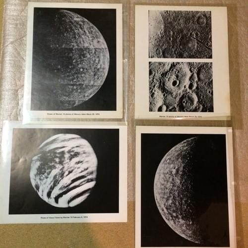 NASA JPL MARINER 10 MISSION 1974 VENUS and MERCURY Photo