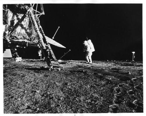 APOLLO 12  Astronaut Bean Working on Moon