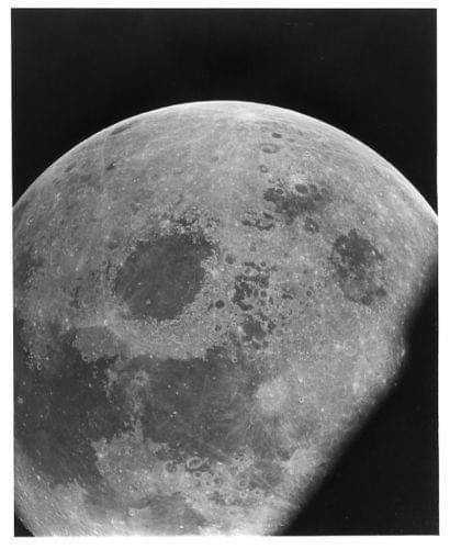 APOLLO 10 / Orig NASA 8x10 Press Photo - View of Moon from Spacecraft