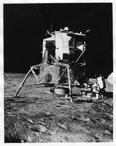 APOLLO 12  Lunar Module Intrepid on Moon