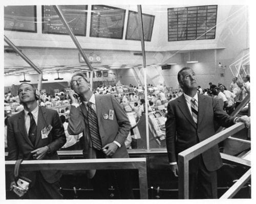 Apollo 16  vp agnew & nasa officials watch launch