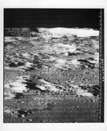 View of Moon Surface from Lunar Orbiter