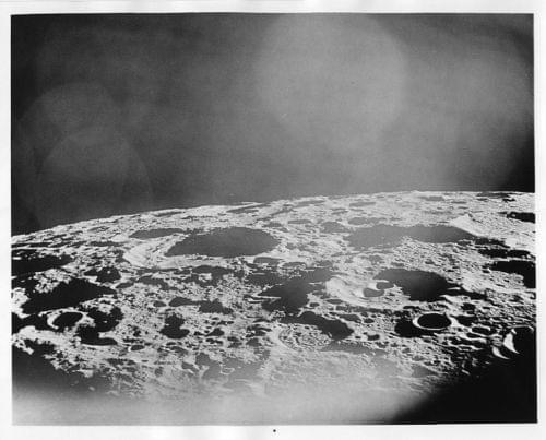 APOLLO 12 View of Moon from Spacecraft