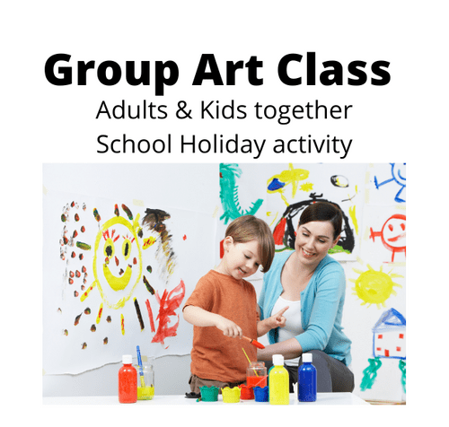 Group Art School Holiday activity - Adult & Kids - Friday 2nd July 2021 - 1.30 - 3.30