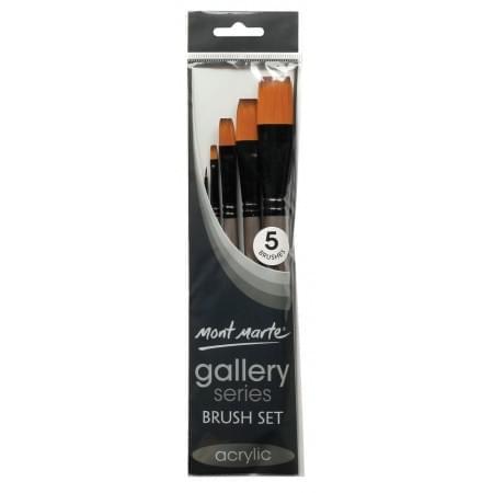 Gallery Series Brush Set Acrylic 5pc