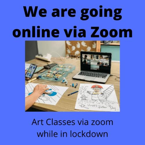 Online Art class via Zoom