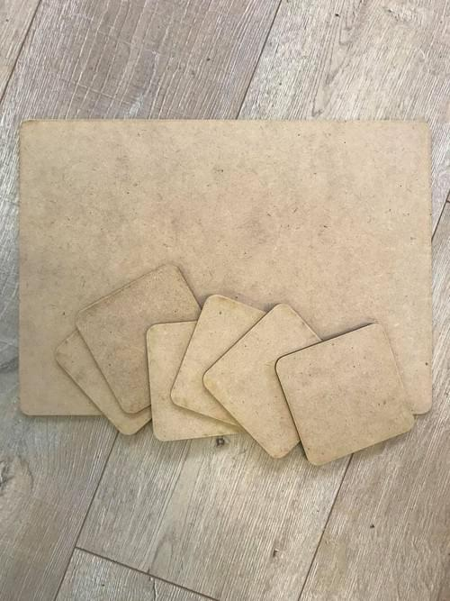 Coaster Painting At home kit - Get a main coaster for plate and 4 cup coasters