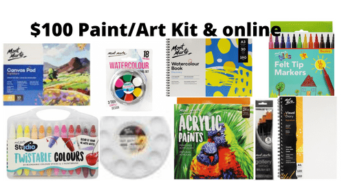 Paint Art kit and Online - $100 - Not available till February 2021