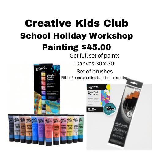 School Holiday painting workshop - Zoom workshop
